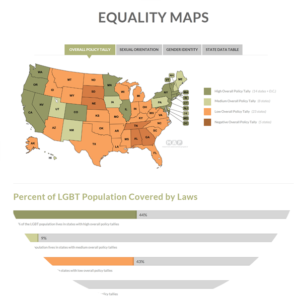 Discover where your state stands on LGBT Equality issues