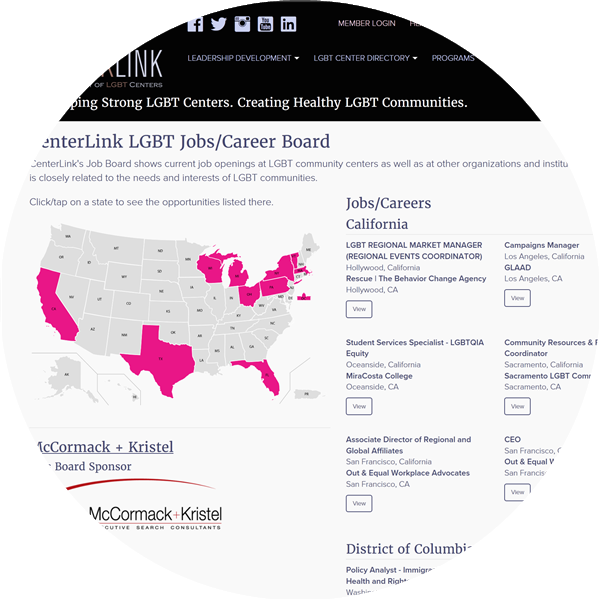 LGBT Community Jobs listings