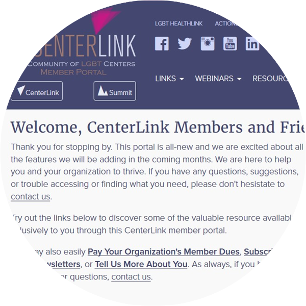 Visit My CenterLink, the resource portal for CenterLink Members